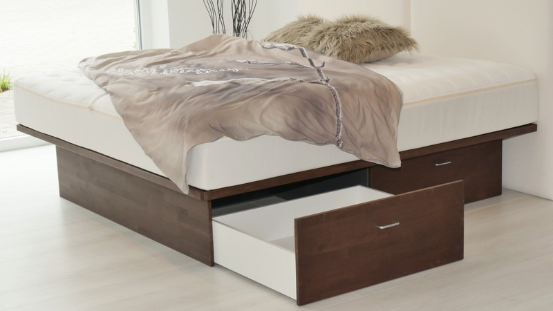 boxspring bett mit bettkasten lattenroste schubladen f r sie gefertigt. Black Bedroom Furniture Sets. Home Design Ideas