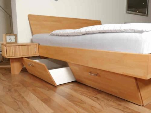 Boxspring-Bett mit Bettkasten