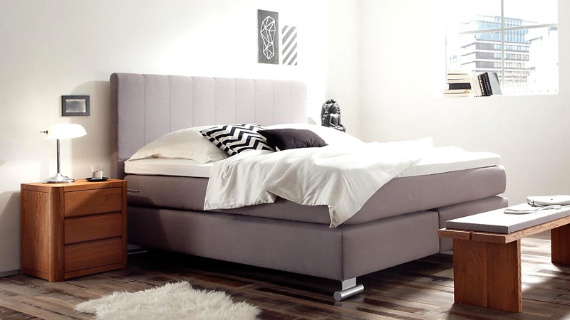 boxspringbett 150x200 cm matratze f r r cken gefertigt gut schlafen. Black Bedroom Furniture Sets. Home Design Ideas