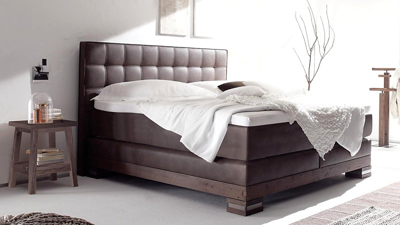 boxspringbett 150x200 cm matratze f r r cken gefertigt. Black Bedroom Furniture Sets. Home Design Ideas