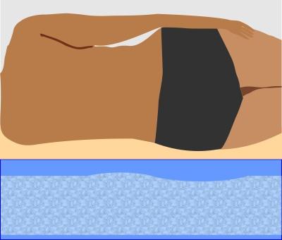 Wassermatratze ohne Lendenunterstützung